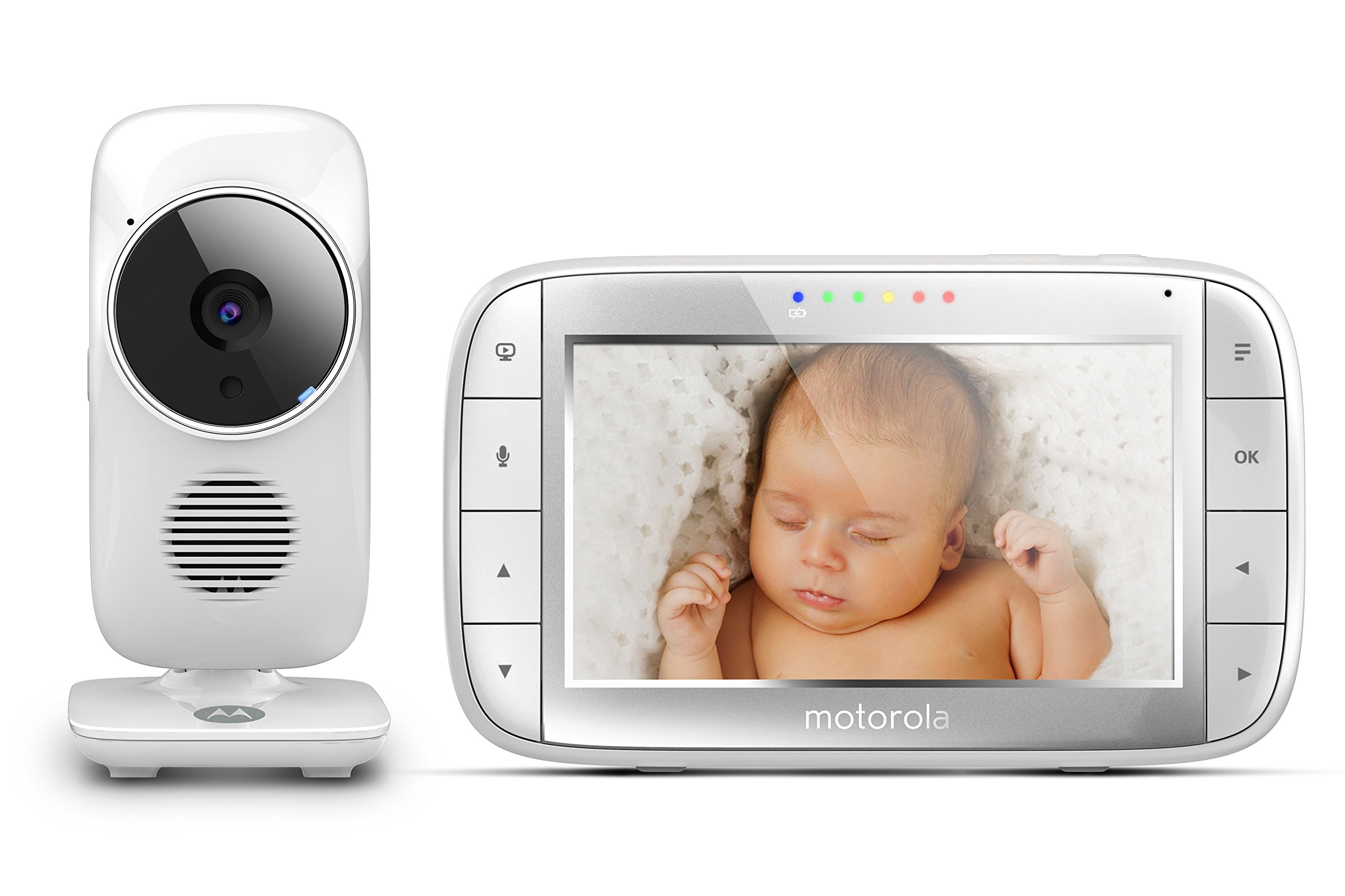 "Motorola MBP48 5 inch Video Baby Monitor Motorola Baby 5"" color display two-way communication Infrared night vision Room temperature monitoring 1"