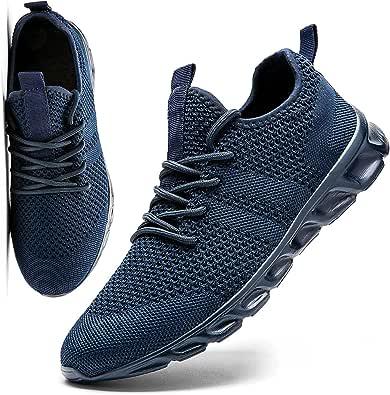 MGNLRTI Sneakers Herren Sportschuh Laufschuhe Herren Fitness Schuhe für Outdoor Jogging Gym Tennis Basketball Schuhe Walkingschuhe Dunkelgrau Mode
