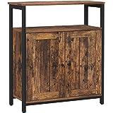 VASAGLE Dressoirboard, multifunctionele kast met verstelbare planken en deuren, voor woonkamer, slaapkamer, hal, industrieel