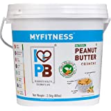 MYFITNESS Natural Peanut Butter Crunchy 2.5 Kg (Unsweetened)