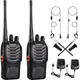 Walkie Talkies 88E, 2 Way Radio Rechargeable Walkie Ttalkie With Original Earpieces, Portable & Compact Handheld Two Way…