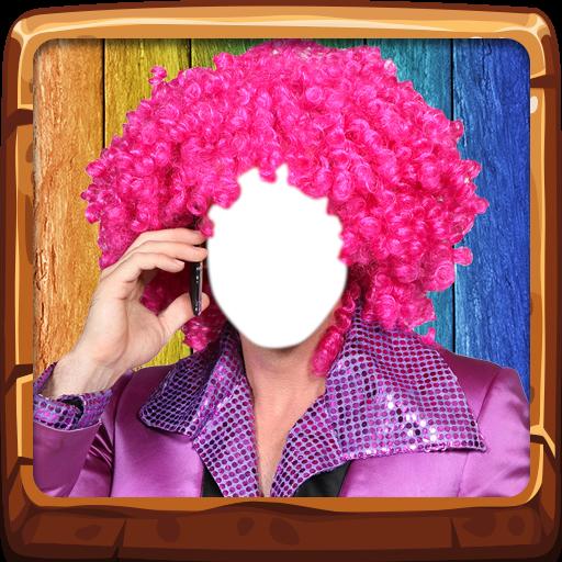 Kostüm-Foto-Montage - Haar Clown Kostüm