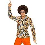 Générique Widmann chemise années 70 motif bulles