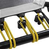 SportPlus Rubberen touwset voor SportPlus Fitness trampoline, 36 bungee-touwen incl. bevestigingsclips, diverse hardheidsgrad