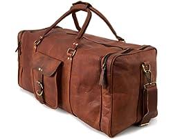 Berliner Bags Sac de Voyage en Cuir New York XXL Bagage à Main Polochon de Sport Week-End Femme Homme Vintage Marron 60 litre