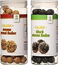 New Tree Sesame Peanut Ladoo & Mini Black Sesameseed Ladoo Pack Of 2 700 Grams