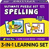 Book Toys- Spelling Puzzles & Games for Kids | for Ages 4-8 | Toys for Boys & Girls | Educational and Learning Toys | with Wi
