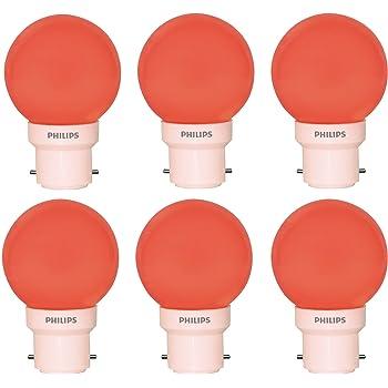 Philips Deco Mini 0.5-Watt Base LED Bulb (Red and Pack of 6)