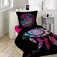 douceur d'intérieur PORTE BONHEUR Parure de couette Coton Multicolore 200 x 140 cm