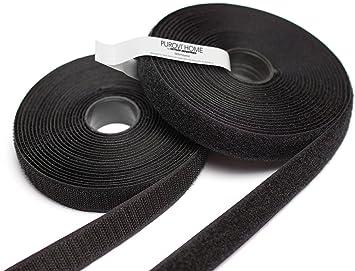 20mm breit Neu 5m lang Purovi Haken und Klettband feste Befestigung schwarz