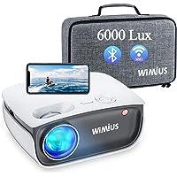 [Videoprojecteur WiFi Bluetooth] 6000 lumen WiMiUS Videoprojecteur Full HD Supporte 1080P, Retroprojecteur pour Function…