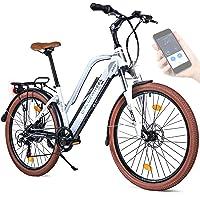"BLUEWHEEL 26"" innovatives Damen E-Bike I Deutsche Qualitätsmarke I EU konform Top City Ebike + Nabenmotor I Shimano 7…"