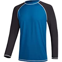 MILANKERR Mens Shirts UV Rash Guards Long Sleeves Quick Dry Swimming Top Surfing Sun Protection 50+ Diving Wetsuits…