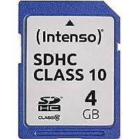 Intenso 4GB SDHC - 4GB SDHC Speicherkarte (20 MB/s, class 10), Blau
