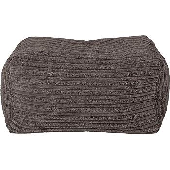 1ac1d18c64 Lounge Pug® - CORD - Bean Bag Footstool - Small - Graphite Grey - (Size  20cm H x 35cm D x 45cm Wide)