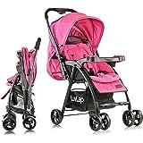 LuvLap Joy Stroller/Pram, Compact and Easy Fold, for Newborn Baby/Kids, 0-3 Years (Purple)