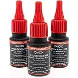 Secondelijm cyanacrylaat superlijm 3 x 20 g UV Protect fles dun vloeibaar waterdicht snel droog