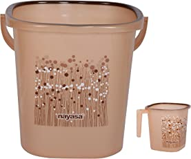 Nayasa Funk 25 Ltr Bucket & Matching Mug - Brown