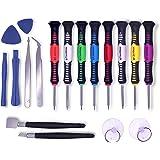 Reparatur Tool Kit,KWOKWEI 18 in 1 Profi Reparatur Werkzeug Set Schraubendreher Reparatur Öffnung Werkzeug Set Tragbar Zerlegen für Handy Smartphone Microsoft Apple iphone 6S PLUS 6 Plus 5s 5c 4s