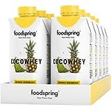 foodspring CocoWhey pacchetto da 12, Ananas, 12x330ml, Il drink proteico isotonico