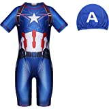 Traje de baño Spiderman para niños Traje de baño de una Pieza con Traje de baño con protección UV Traje de Surf Vacaciones en