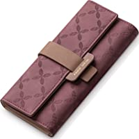 PAULO SERINI® Portafoglio Donna Large   Portamonete con 9 scomparti per carte di credito e tesserino per foto   Elegante…