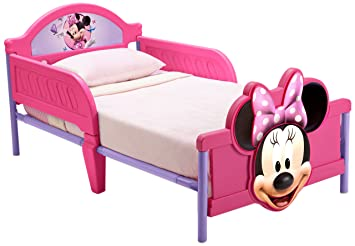 Disney Minnie Mouse 3D Footboard Toddler Bed Amazoncouk Baby