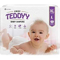 Teddyy Easy Baby Diapers Extra Large (White, 18-24 Months) - 56 Count
