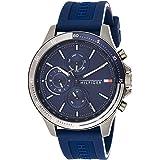 ساعة يد كوارتز للرجال بسوار سيليكون 1791721 من تومي هيلفجر