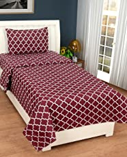 """AEROHAVEN™ Cotton Comfort 144 TC Cotton Single Bedsheet(60"""" x 90"""") with 1 Pillow Cover(16"""" x 26"""")"""