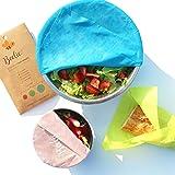 Beelie | 3 Emballages en Cire d'Abeille Haute Qualité | Zéro déchet | Conserve Tout Type d'Aliments | Organique, Écologique, Réutilisable | 3 Tailles : Petit, Moyen, et Grand | Produit 100% Naturel