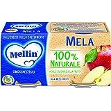 Mellin Omogeneizzato di Frutta Mela 100% Naturale – 24 Vasetti da 100 gr
