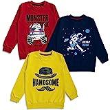 minicult Boy's & Girl's Fleece Round Neck Sweatshirt (Pack of 3)