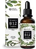 Vitamin B12 Tropfen - 50ml (1700 Tropfen) - Beide Aktivformen (Methyl- & Adenosylcobalamin) - Ohne Alkohol, vegan & hergestellt in Deutschland
