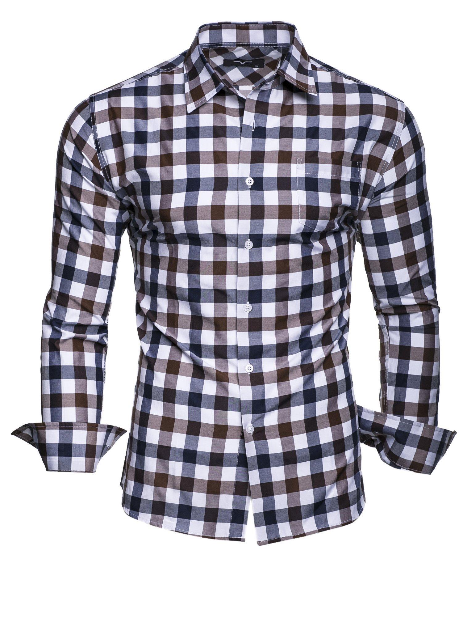6XL Modello Monaco Kayhan Hombre Camisa Manga Larga Slim Fit S