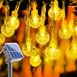 Solar String Lights Outdoor 80 LED Outdoor String Fairy Lights Battery Powered with 8 Modes Outdoor Globe Solar Powered Festi