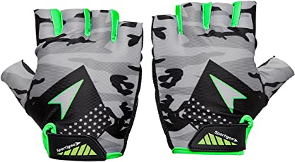 Sportigoo CAMO Cycling Glove - Grey/Green