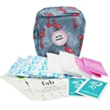 FIRST PERIOD KIT READY-2-GO, Menstruation Starter Kit for Teens/Girls, filled kit bag containing all essential sanitary wear
