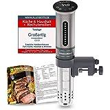 KitchenBoss Sous Vide Garer Stick Precisiekooktoestel, 1100 W, 360 graden circulatie, temperatuurbereik van 40 tot 90 graden