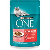 Purina One Sterilcat Kattenvoer, Natvoer, Voor Gecastreerde Katten, 24 x 85 g