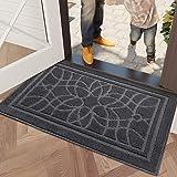 DEXI Dirt Trapper Door Mat,Non Slip Entrance Mat Machine Washable Barrier Mat Super Absorbent Floor Mat Carpet for Indoor and