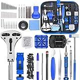 ETEPON Kit de Réparation de Montre, 185pcs Ensemble d'outils de Barre de Ressort Professionnel, Outil de Réparation de Montre