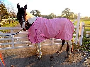 neuen besten Qualität leicht Pink Pferdedecke/Regendecke ohne Füllung 600Denier 100% wasserdicht, atmungsaktiv, verschiedene Größen.