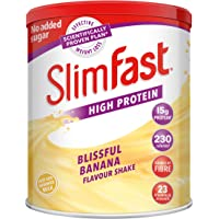 SlimFast High Protein Meal Replacement Powder Shake, Blissful Banana Flavour, 12 Servings