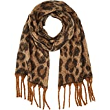Only Onlpolly Heavy Brushed Scarf Leo Bufanda para Mujer