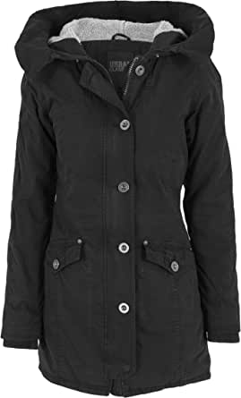 Urban Classics Jacke Garment Washed Long Parka, Giacca Donna