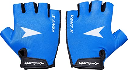 Sportigoo Vent-X Cycling Gloves - Blue/White