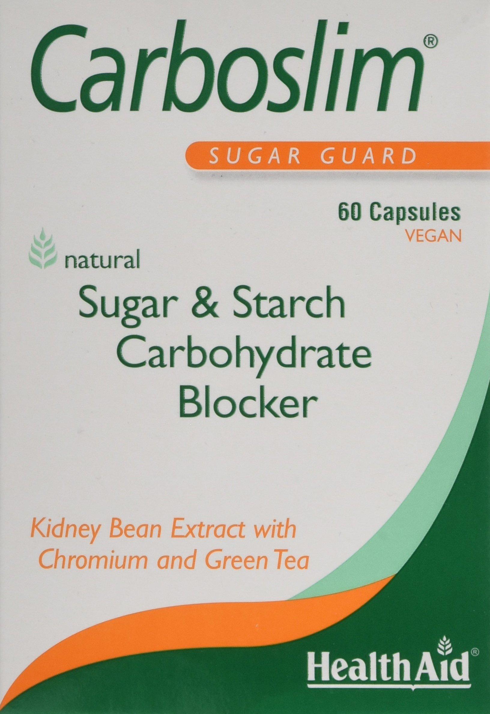 81ismHnuNWL - HealthAid Carboslim - Kidney Bean Extract - 60 Vegan Capsules