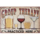 Sehaz Artworks 'Group Therapy' Wall Sign (Wooden, 30 cm x 20 cm x 0.3 cm) for Wall Decoration