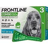 Frontline Combo, 3 Pipette, Cane Taglia M (10 - 20 Kg), Antiparassitario per Cani e Cuccioli di Lunga Durata, Protegge il Can
